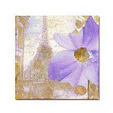 Color Bakery 'Purple Paris I' Canvas Art