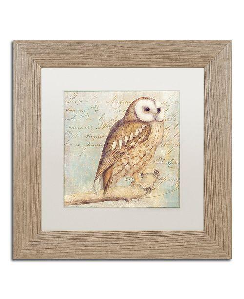 """Trademark Global Color Bakery 'White-Faced Owl' Matted Framed Art, 11"""" x 11"""""""