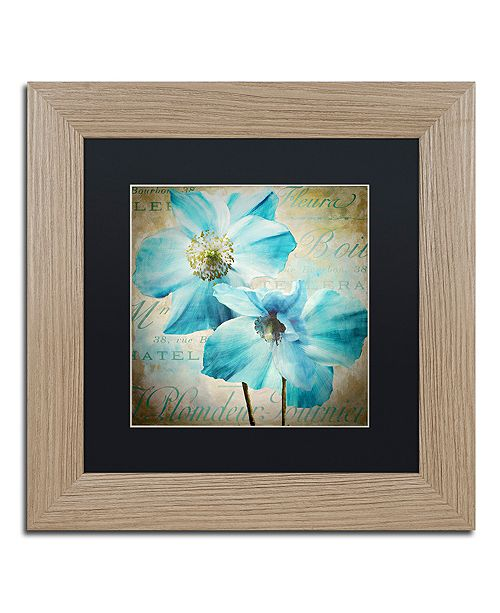 "Trademark Global Color Bakery 'Himalayan Blue I' Matted Framed Art, 11"" x 11"""