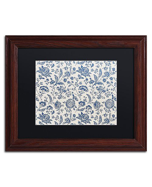 "Trademark Global Color Bakery 'Toile Fabrics Ix' Matted Framed Art, 11"" x 14"""