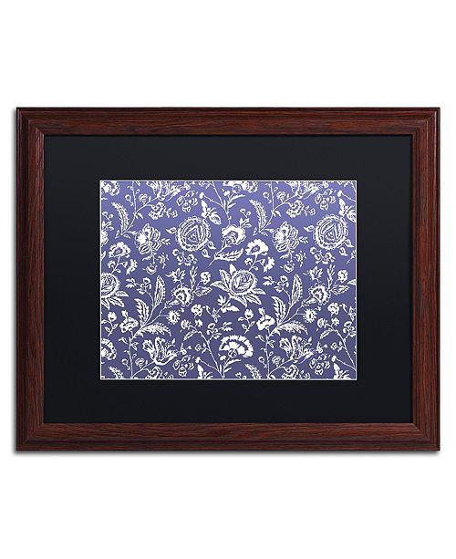 """Trademark Global Color Bakery 'Toile Fabrics X' Matted Framed Art, 16"""" x 20"""""""