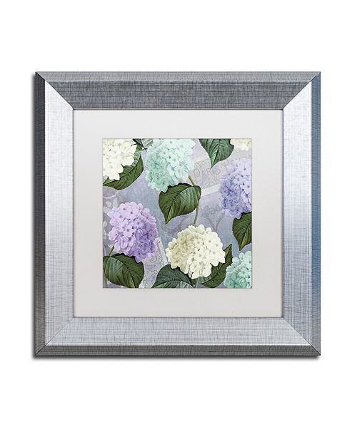 "Trademark Global Color Bakery 'Hortensia Lavenders' Matted Framed Art, 11"" x 11"""