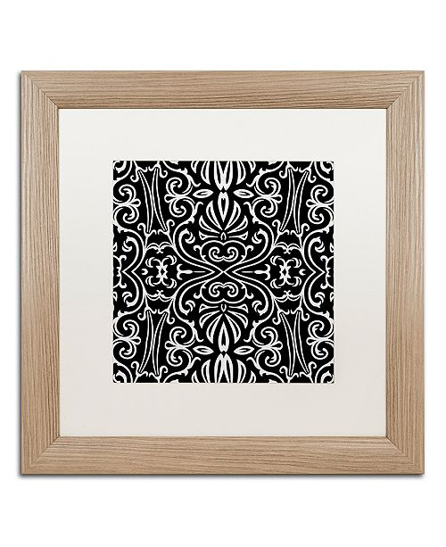 "Trademark Global Color Bakery 'Suriah I' Matted Framed Art, 16"" x 16"""