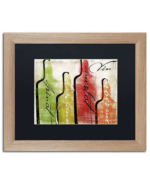 "Trademark Global Color Bakery 'Wine Tasting I' Matted Framed Art, 16"" x 20"""
