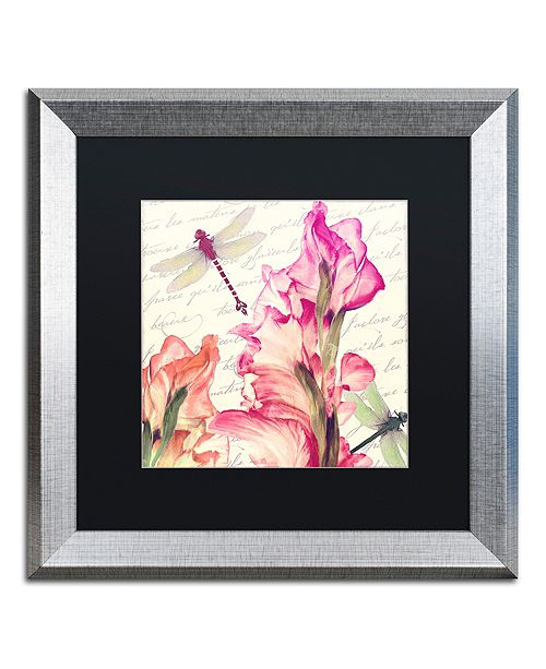 "Trademark Global Color Bakery 'Dragonfly Morning I' Matted Framed Art, 16"" x 16"""