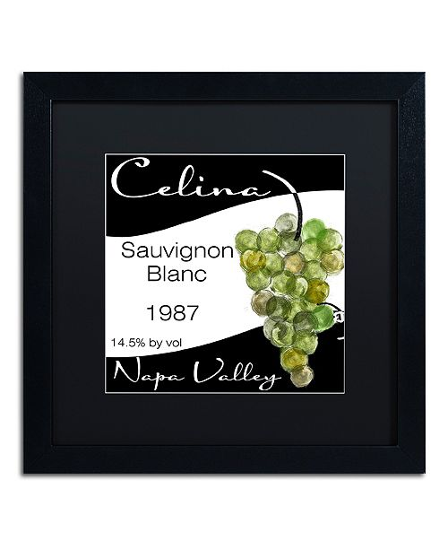 """Trademark Global Color Bakery 'Wine Valley One' Matted Framed Art, 16"""" x 16"""""""