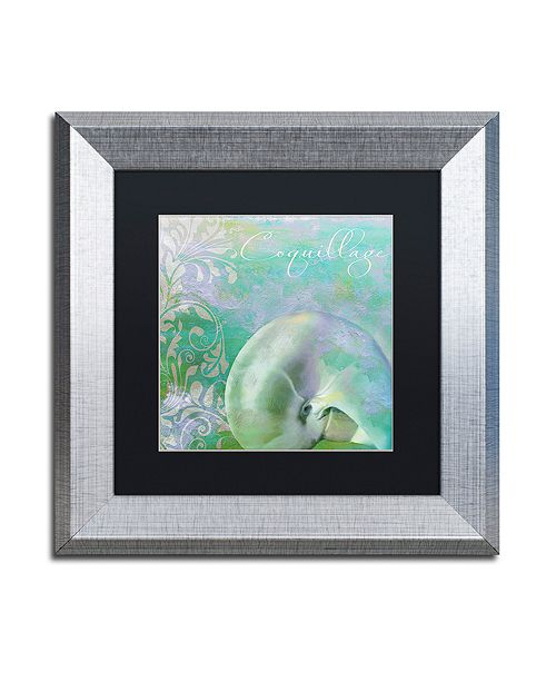 "Trademark Global Color Bakery 'Painted Sea Ii' Matted Framed Art, 11"" x 11"""