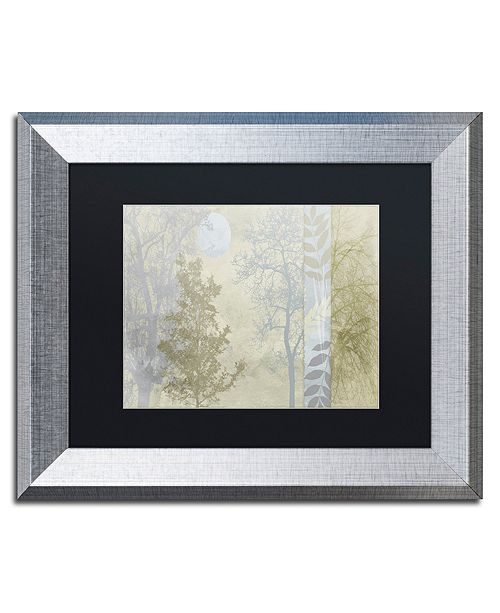 "Trademark Global Color Bakery 'Tree Language I' Matted Framed Art, 11"" x 14"""
