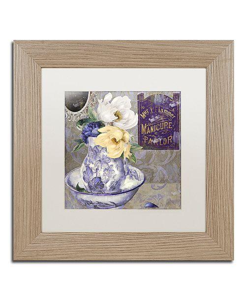"Trademark Global Color Bakery 'Tableaux Ii' Matted Framed Art, 11"" x 11"""