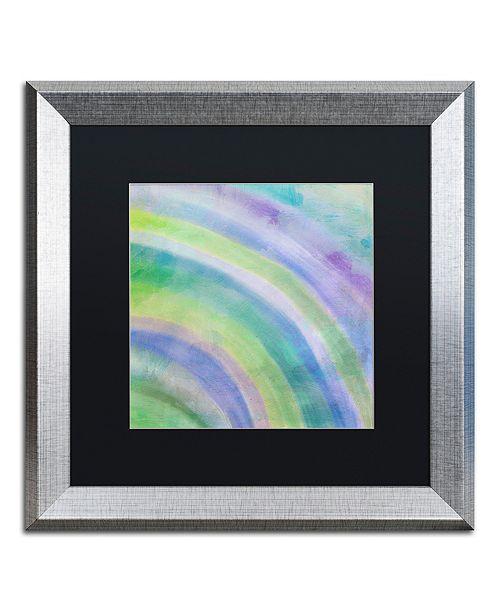 "Trademark Global Color Bakery 'Cold' Matted Framed Art, 16"" x 16"""