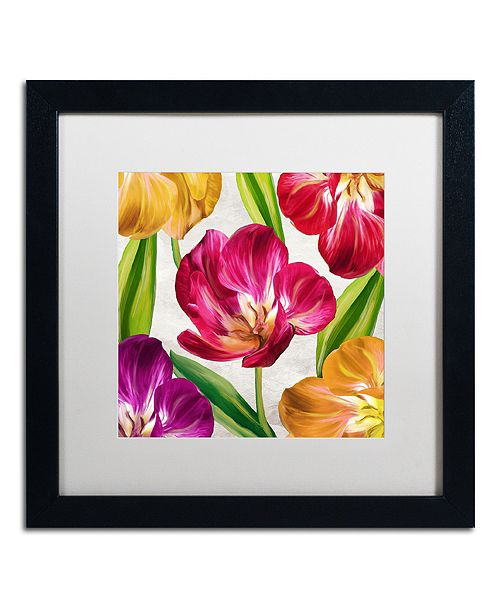 """Trademark Global Color Bakery 'Open Arms Iii' Matted Framed Art, 16"""" x 16"""""""