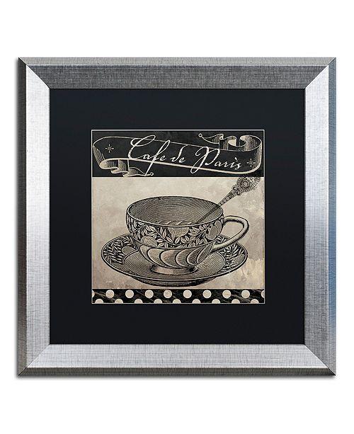 """Trademark Global Color Bakery 'Bistro Parisienne Iv' Matted Framed Art, 16"""" x 16"""""""
