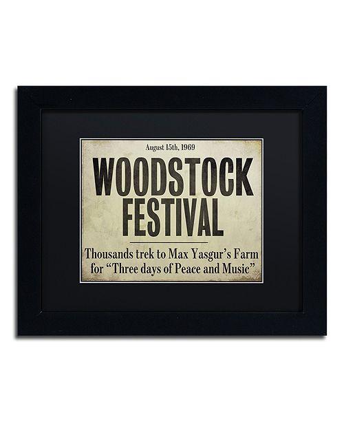 "Trademark Global Color Bakery 'Woodstock' Matted Framed Art, 11"" x 14"""