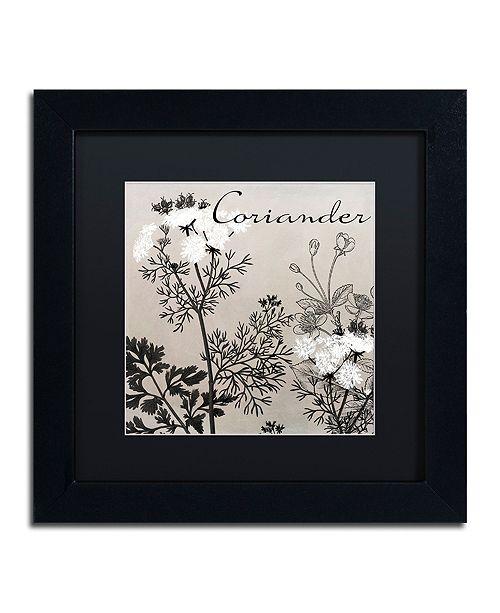 """Trademark Global Color Bakery 'Flowering Herbs Iv' Matted Framed Art, 11"""" x 11"""""""