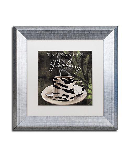"Trademark Global Color Bakery 'Afrikan Coffee Ii' Matted Framed Art, 11"" x 11"""
