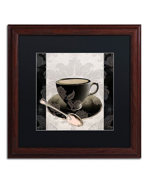 "Trademark Global Color Bakery 'Vintage Cafe Iii' Matted Framed Art, 16"" x 16"""