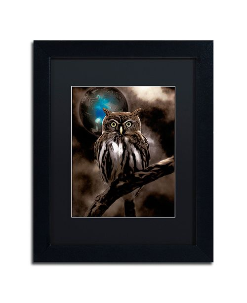 "Trademark Global Color Bakery 'Night Owl' Matted Framed Art, 11"" x 14"""