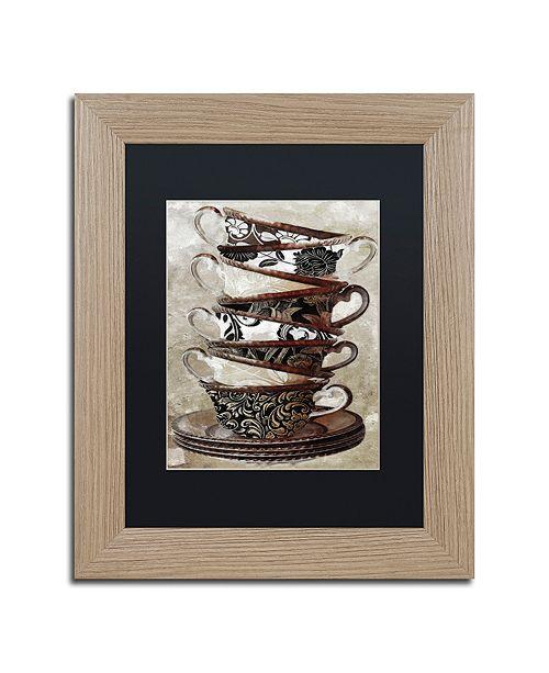 "Trademark Global Color Bakery 'Afternoon Tea I' Matted Framed Art, 11"" x 14"""