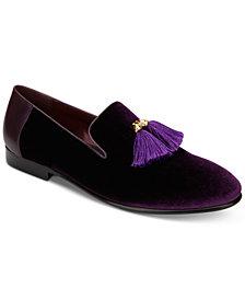 Tallia Men's Eduardo Velvet Tassel Loafers