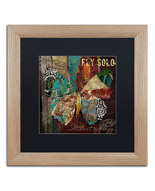 "Trademark Global Color Bakery 'Winging It I' Matted Framed Art, 16"" x 16"""
