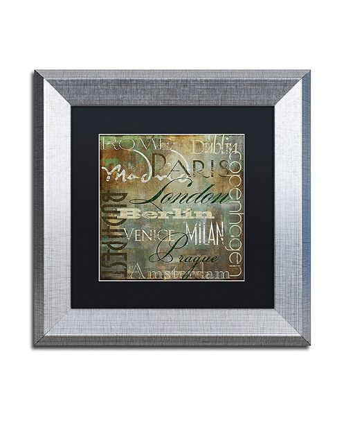 """Trademark Global Color Bakery 'Cities Of The World Iii' Matted Framed Art, 11"""" x 11"""""""