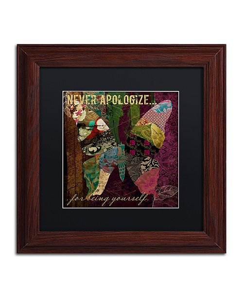 "Trademark Global Color Bakery 'Winging It Iv' Matted Framed Art, 11"" x 11"""