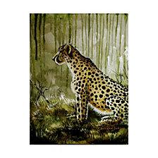 Cherie Roe Dirksen 'Cheetah On Green' Canvas Art