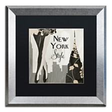 """Color Bakery 'New York Style I' Matted Framed Art, 16"""" x 16"""""""