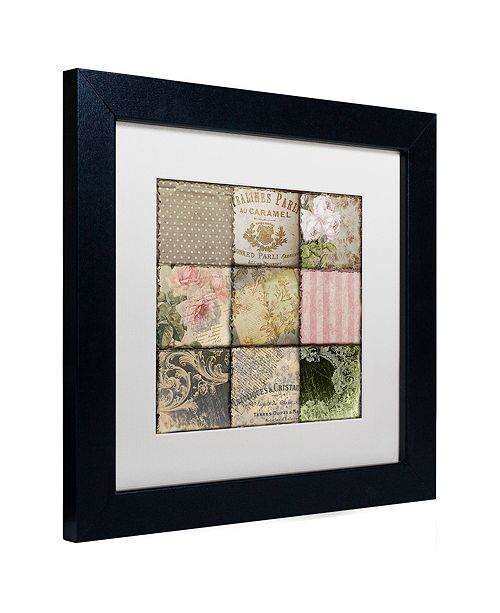 "Trademark Global Color Bakery 'Viva La Paris Ii' Matted Framed Art, 11"" x 11"""