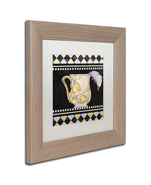 """Trademark Global Color Bakery 'Bistro Nouveau I' Matted Framed Art, 11"""" x 11"""""""