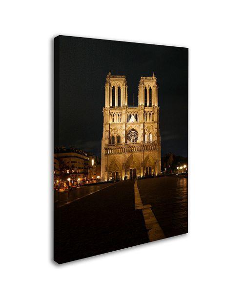 """Trademark Global Michael Blanchette Photography 'Notre-Dame De Paris' Canvas Art, 14"""" x 19"""""""
