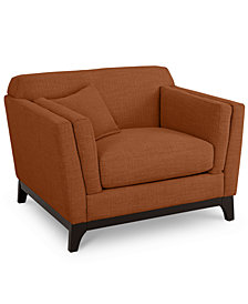 "Cistella 44"" Fabric Armchair - Custom Colors, Created for Macy's"