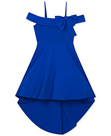 Rare Editions Big Girls Bow-Trim Off-The-Shoulder Dress