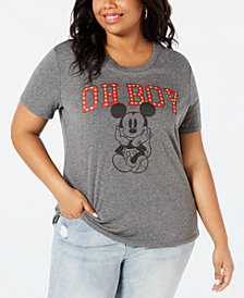 Disney by Love Tribe Trendy Plus Size Oh Boy Mickey Mouse T-Shirt