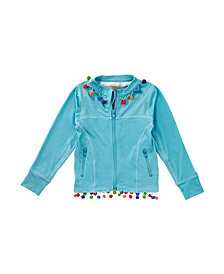 Masala Baby Girl's Acti-Play Zippered Jacket Turquoise