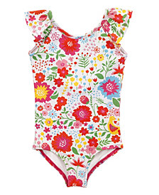 Masala Baby Girl's Flutter One Piece English Garden Multi