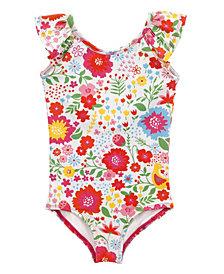 Masala Baby Girl's Flutter One Piece English Garden Multi