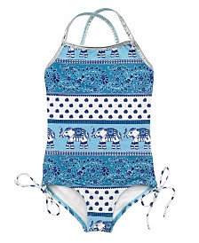 Masala Baby Girl's Crossback One Piece Passage to India Turquoise