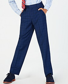 Big Boys Stretch Plaid Suit Pants