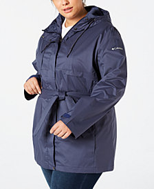 Columbia Plus Size Pardon My Trench Rain Jacket