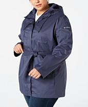 93d10dae08 Columbia Plus Size Pardon My Trench Rain Jacket