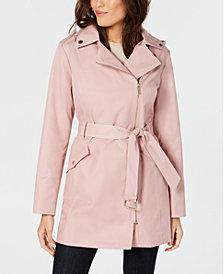 MICHAEL Michael Kors Asymmetrical Belted Raincoat
