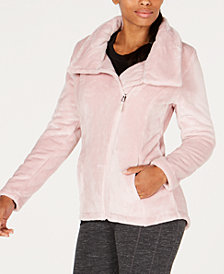 Ideology Asymmetrical-Zip Fleece Jacket, Created for Macy's