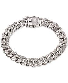 Cubic Zirconia Link Bracelet in Sterling Silver