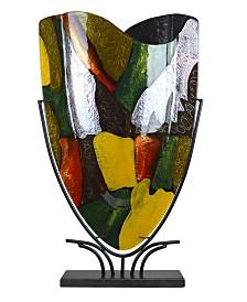 "19"" x 23"" Fused Glass Vase"