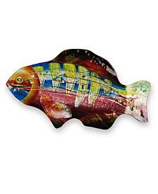 """18"""" Lime Gills Fish Plate"""