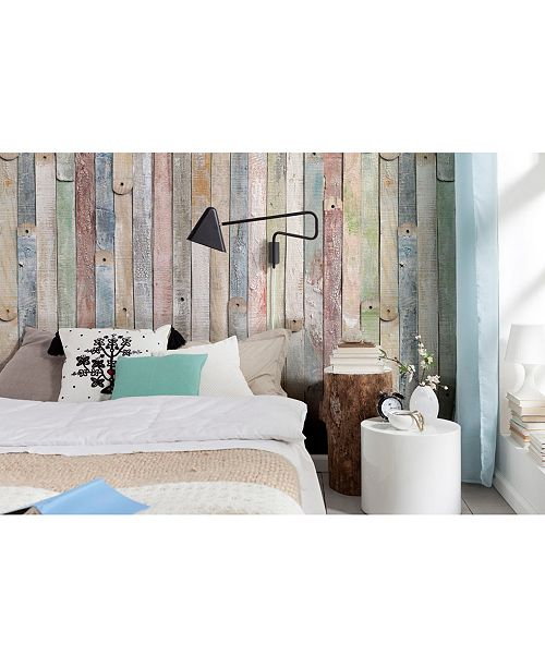 Brewster Home Fashions Vintage Wood Wall Mural