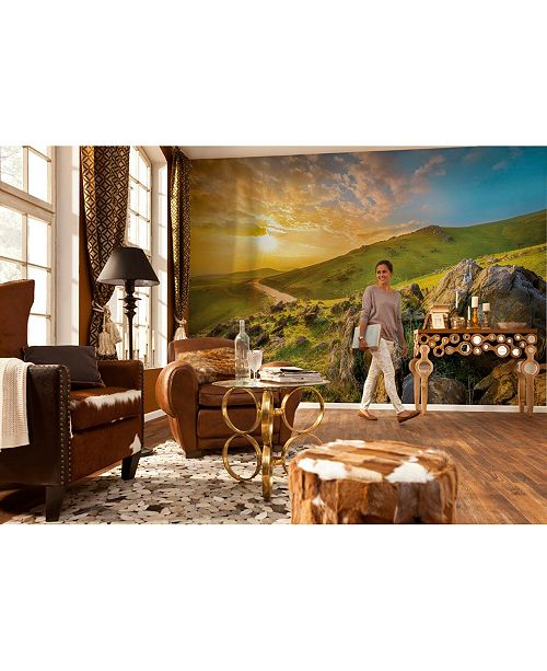 Brewster Home Fashions Mountain Morning Wall Mural