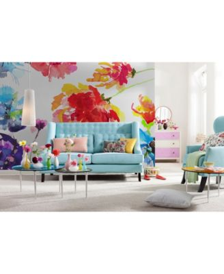 PASSION FLOWERS TEXTURES PAINTING Photo Wallpaper Wall Mural  368x254cm