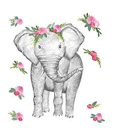 Penelope The Elephant Wall Art Kit
